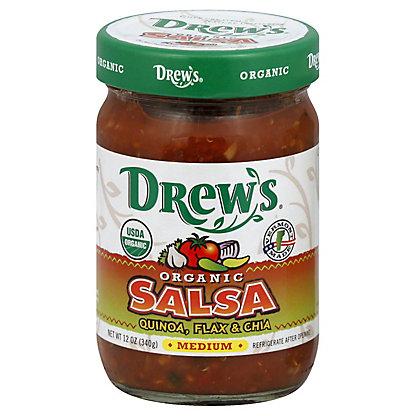 Drews Organic Salsa Quinoa Flax & Chia -Medium,12.00 oz