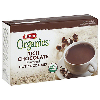 H-E-B Organics Rich Chocolate Hot Cocoa Mix, 10 ct
