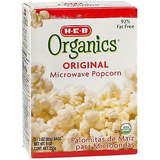 H-E-B Organics Original Microwave Popcorn,3 CT