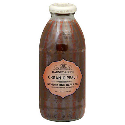 Harney & Sons Organic Peach Invigorating Black Tea,16.00 oz