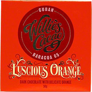 Willies Cacao Cuban 65% Cacao Orange Chocolate Single, 50 G