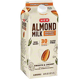 H-E-B Almond Milk Unsweet,64 oz
