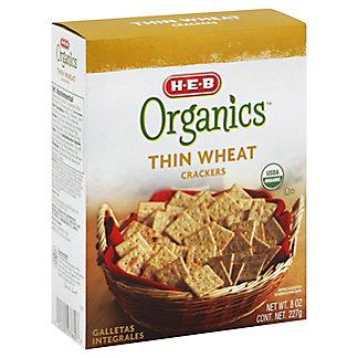 H-E-B Organics Thin Wheat Crackers,8 OZ