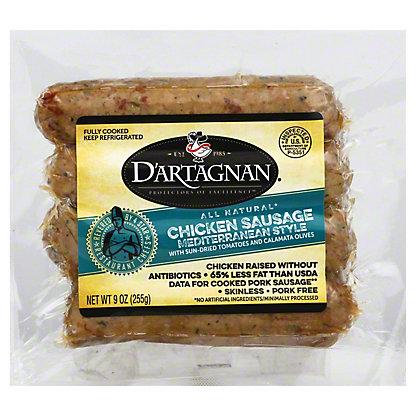 DArtagnan Chicken Mediterranean Sausage, 9.00 oz