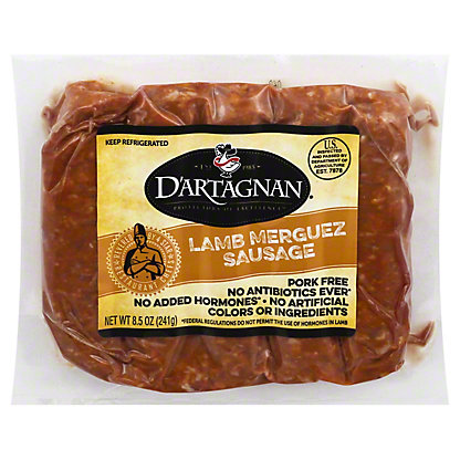 DArtagnan Lamb Merguez Sausage, 8.50 oz