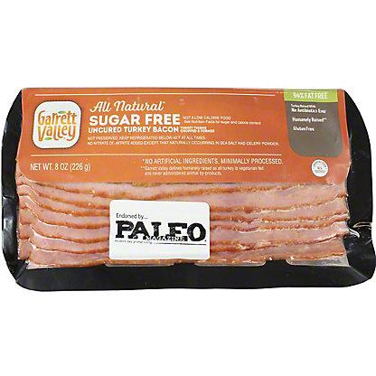 Garrett Valley All Natural Organic Uncured Turkey Bacon,8 oz