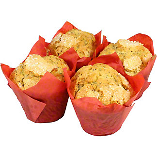 Central Market Lemon Poppy Seed Muffins 4 Count, ea