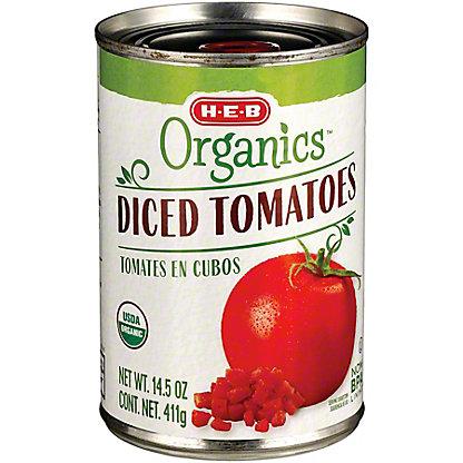 H-E-B Organics Diced Tomatoes, 14.5 oz