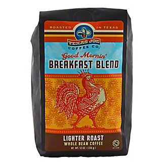 Texas Joe Breakfast Blend Whole Bean Coffee,12 OZ