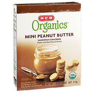 H-E-B Organics Mini Peanut Butter Sandwich Crackers,7.5 oz