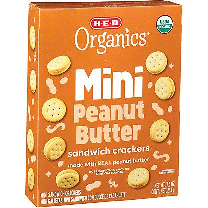 H-E-B Organics Mini Peanut Butter Sandwich Crackers,7.5 oz