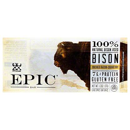 EPIC Bison Bacon + Cranberry Bar, 1.5 oz