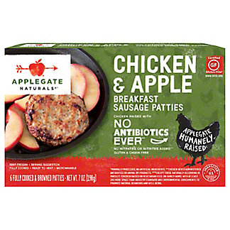 Applegate Naturals Chicken & Apple Breakfast Sausage Patties,6 CT