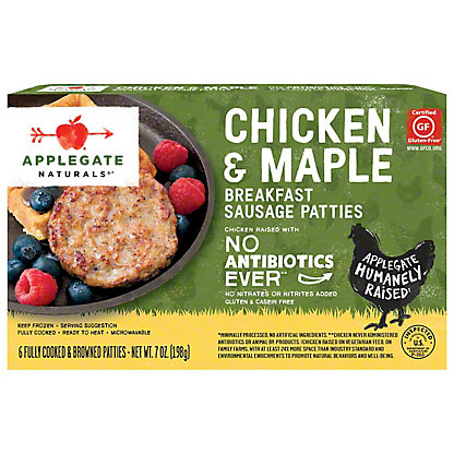 Applegate Farms Chicken & Maple Breakfast Sausage Patties,7 OZ