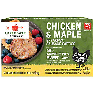 Applegate Farms Chicken & Maple Breakfast Sausage Patties,7 OZ