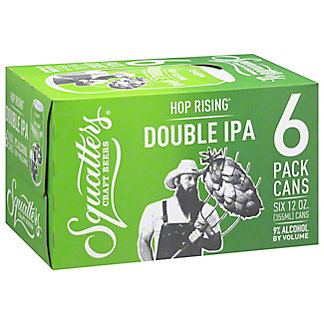 Squatters Hop Rising Double Indian Pale Ale 6 PK Cans,12 OZ
