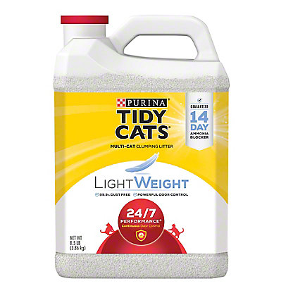Tidy Cats LightWeight 24/7 Performance Clumping Litter for Multiple Cats,8.5 LBS