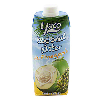 Yaco Coconut With Pineapple Water, 16.9 oz