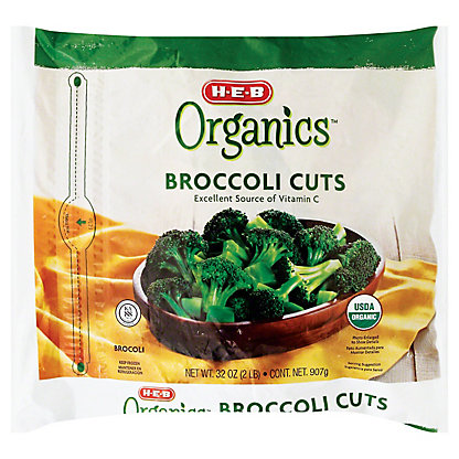 H-E-B Organics Broccoli Cuts,32.00 oz