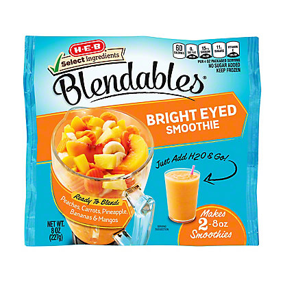 H-E-B Select Ingredients Blendables Bright Eyed Smoothie,8.00 oz