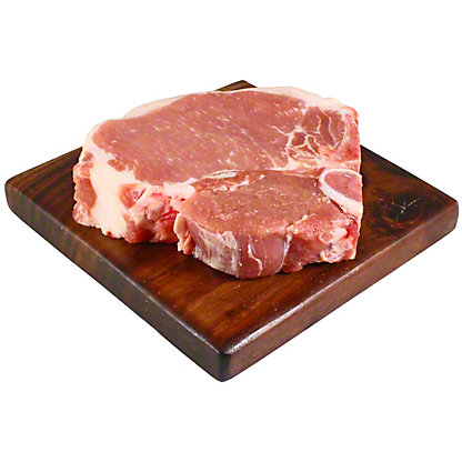 Central Market Natural Berkshire Pork Porterhouse Bone-in Loin Chops