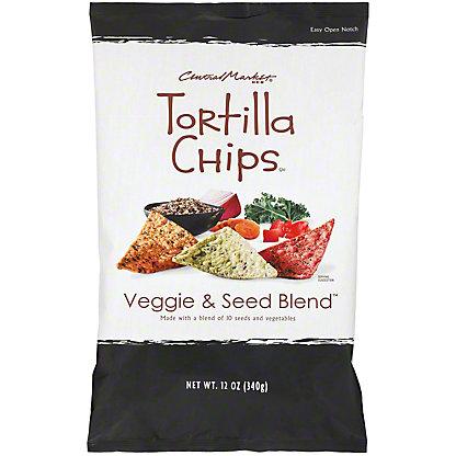 Central Market Veggie & Seed Blend Tortilla Chips,12 OZ.
