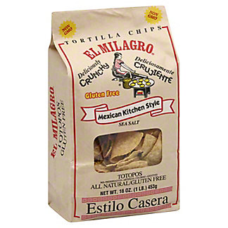 El Milagro Totopos Thick Salted Chips, 16 oz