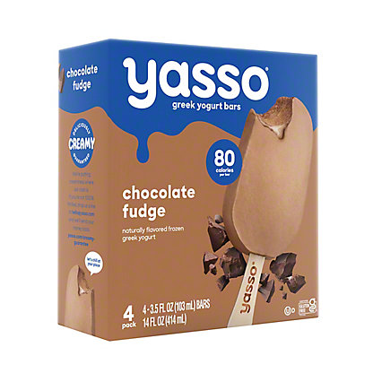 Yasso Frozen Greek Yogurt Chocolate Fudge Bars,4.00 ea