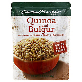 Central Market Quick Heat Quinoa and Bulgur,8.8 OZ