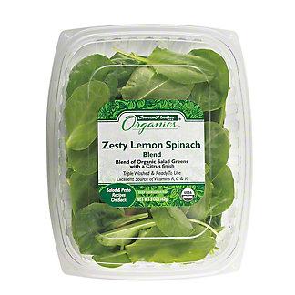 Central Market Organic Zesty Lemon Spinach Blend, 5 oz