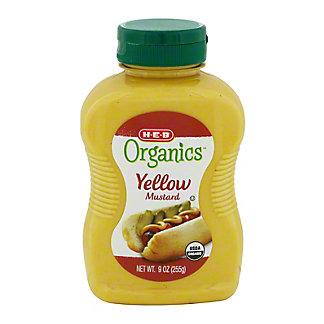 H-E-B Organics Yellow Mustard,9 OZ