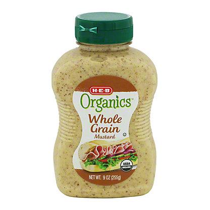 H-E-B Organics Whole Grain Mustard,9 OZ