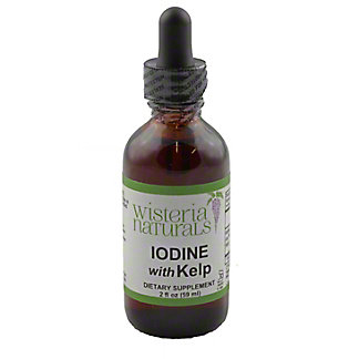 Wisteria Naturals Iodine With Kelp, 1 OZ