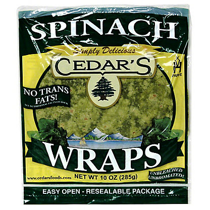 Cedar's Spinach Wraps,10OZ