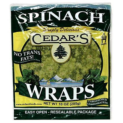 Cedar's Spinach Wraps,10OZ