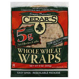 Cedar's Whole Wheat Wraps,9OZ