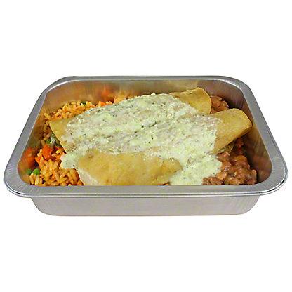 Central Market Chicken Poblano Enchilada Dinner For Oene, ea