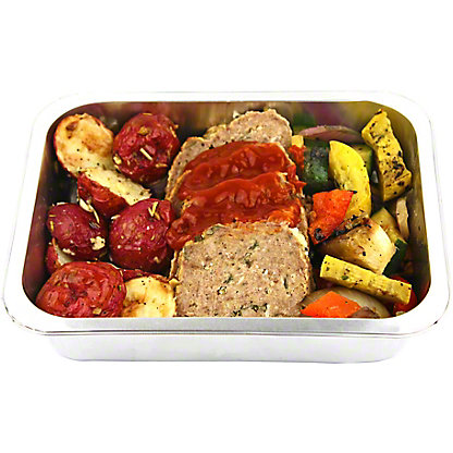 Central Market Meatloaf W Rosemary Potatoes Dinner For One, EACH