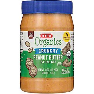 H-E-B Organics Crunchy Peanut Butter,18 oz