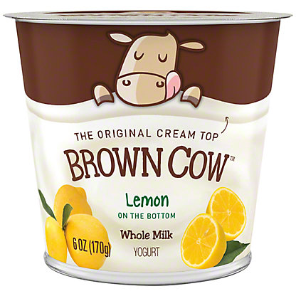 Brown Cow Lemon Cream Top, 5.3 OZ