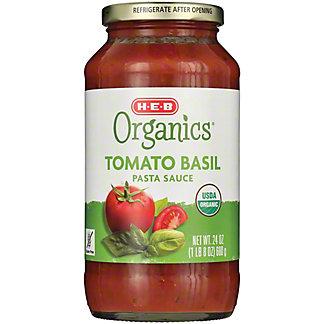 H-E-B Organics Tomato Basil Pasta Sauce, 25 oz
