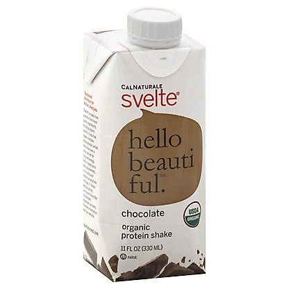 CalNaturale Svelte Chocolate Organic Protein Shake,11 OZ