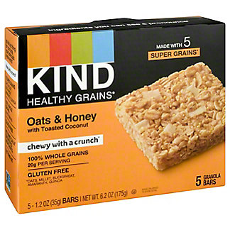 Kind Healthy Grains Oats & Honey With Toasted Coconut Bar, 5 ct