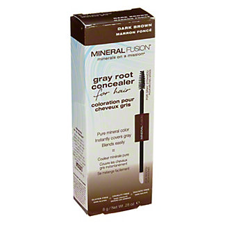 Mineral Fusion Gray Root Concealer, Dark Brown, .28 oz