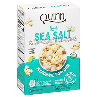 Quinn Popcorn Just Sea Salt, 3 ea