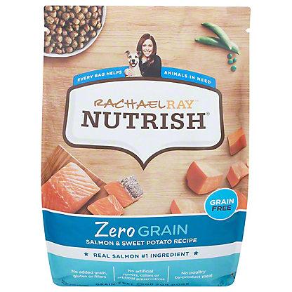 Rachael Ray Nutrish Zero Grain Natural Dry Dog Food, Salmon & Sweet Potato,12 LB