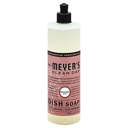 Mrs. Meyer's Clean Day Rosemary Liquid Dish Soap,16 OZ