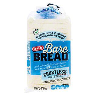 H-E-B Bare Bread Crustless White Bread, 13 oz