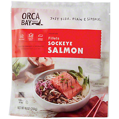 Orca Bay Wild Caught Sockeye Salmon Fillet,10 oz