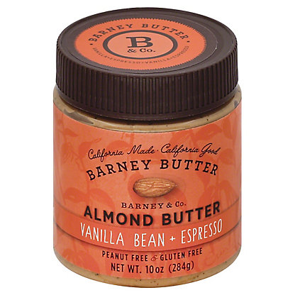Barney Butter Vanilla Bean + Espresso Almond Butter,10 OZ